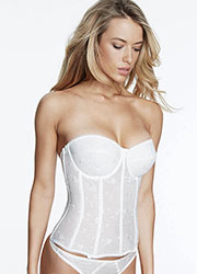 Dominique Rosemarie Embroidered Basque With Straps Zoom 2