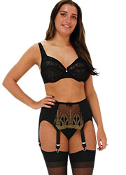 Elaine Edwards Antique Gold 6 Strap Suspender Belt Zoom 1
