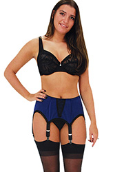 Elaine Edwards Midnight Charm 6 Strap Suspender Belt