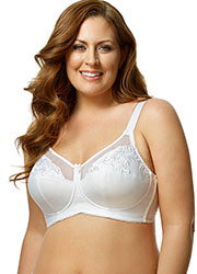 Elila Embroidered Soft Cup Bra Zoom 1