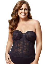 Elila Lace Strapless Basque Zoom 1