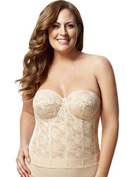 Elila Lace Strapless Basque Zoom 3