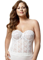 Elila Lace Strapless Basque Zoom 4