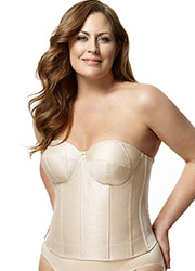 Elila Smooth Strapless Basque Zoom 2
