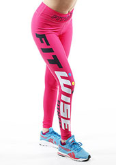 Fit Wise Hot Pink Full Length Fitness Leggings