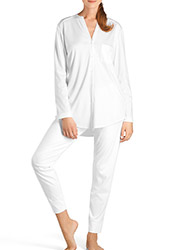 Hanro Pure Essence Long Sleeve Pyjamas Zoom 1