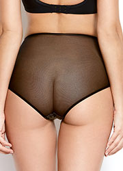 Katherine Hamilton Abrielle Black Embroidered High Waisted Knicker Zoom 2