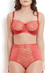 Katherine Hamilton Sophia Red Lace High Waisted Knickers Zoom 4