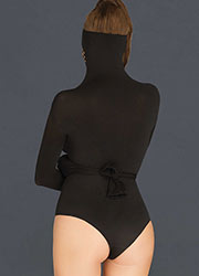 Leg Avenue KINK Opaque and Net Masked Teddy With Wrap Around Restraint Sleeves Zoom 2