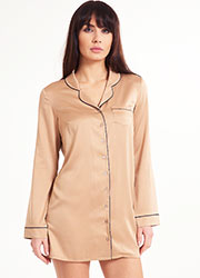 LingaDore Dolce-Latte Satin Pyjama Top Zoom 1