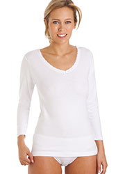 La Marquise Cotton Thermal Long Sleeve Vest