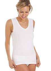 La Marquise Cotton Thermal Sleeveless Vest