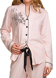 La Marquise Dot Elegance Button Through Pyjama Set Zoom 2