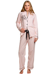 La Marquise Dot Elegance Button Through Pyjama Set