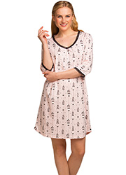 La Marquise Love Birds Cage Print Nightdress
