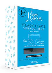 Love Luna for Lady Leaks Workout Midi Brief Zoom 4