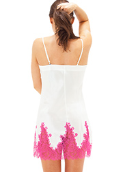 Marjolaine Silk And French Lace Chemise Zoom 2