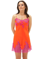 Marjolaine Silk And French Lace Chemise Zoom 1