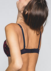 Maison Lejaby Check And Roses Padded Bra Zoom 2