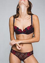 Maison Lejaby Check And Roses Padded Bra Zoom 3