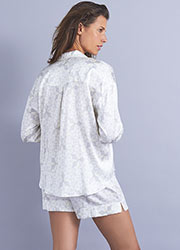 Mimi Holliday Panarea Silk Shortie Pyjama Set Zoom 2
