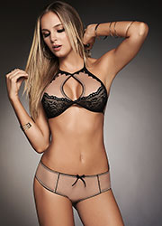 Mapale High Neck Bra and Brief Two Piece Set