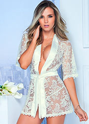 Mapale Lace Robe With Matching G-String Zoom 4