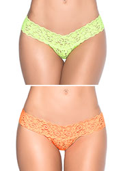 Mapale Small Details Lace Thong Zoom 2