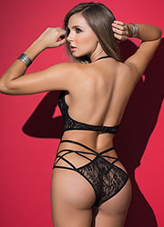 Mapale The Seductress Lace Strappy Bodysuit Zoom 2