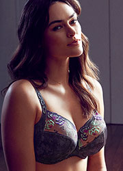 PrimaDonna Madam Butterfly Full Cup Gris Underwired Bra