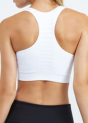 Pure Lime Seamless Bra Top Zoom 2