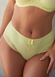 Pour Moi Electra Yellow High Waist Brief Zoom 1