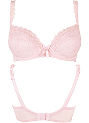 Pour Moi Rebel Padded Plunge Bra Soft Pink Zoom 3