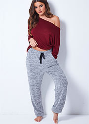 Pour Moi Sofa Love Marl Trousers Zoom 1