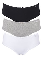 Pretty Polly Alice Cotton Cheeky Short Briefs 3PP Zoom 3