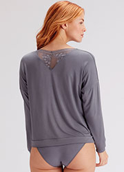 Pretty Polly Botanical Lace Slouchy Bat Wing Top Zoom 2
