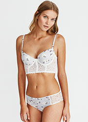 Promise Hebe Floral Push Up Bustier With Matching Brief Zoom 2