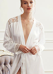 Promise Special Night Long Satin Robe Zoom 2