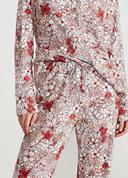 Promise Tisbe Floral Button Down 2 Piece Pyjama Set Zoom 3