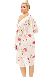 Repose Rose Chemise and Robe Zoom 2