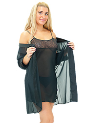 Repose Adeline Satin Chemise and Robe