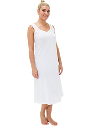 Repose Silver Cotton Nightdress Zoom 1