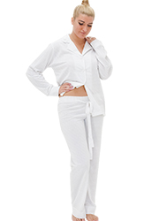 Repose Silver Cotton Pyjamas Zoom 1