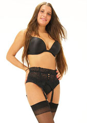 Sassy 4 Strap Deep Lace Suspender Belt Zoom 1
