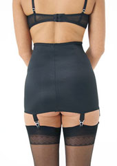 Sassy 6 Strap Plain Open Bottom Girdle Zoom 2