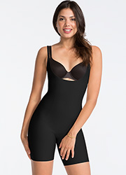 Spanx Open Bust Mid Thigh Body Suit Zoom 4