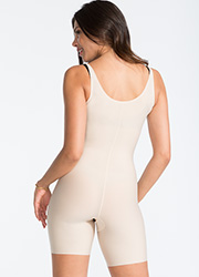 Spanx Open Bust Mid Thigh Body Suit Zoom 3
