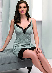 Vanilla Night & Day Grey Snowflake Chemise