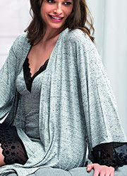 Vanilla Night & Day Grey Snowflake Short Robe Zoom 2