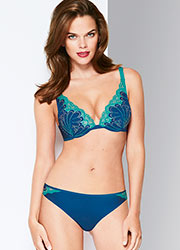 Wonderbra Refined Glamour Blue Brazilian Brief Zoom 2